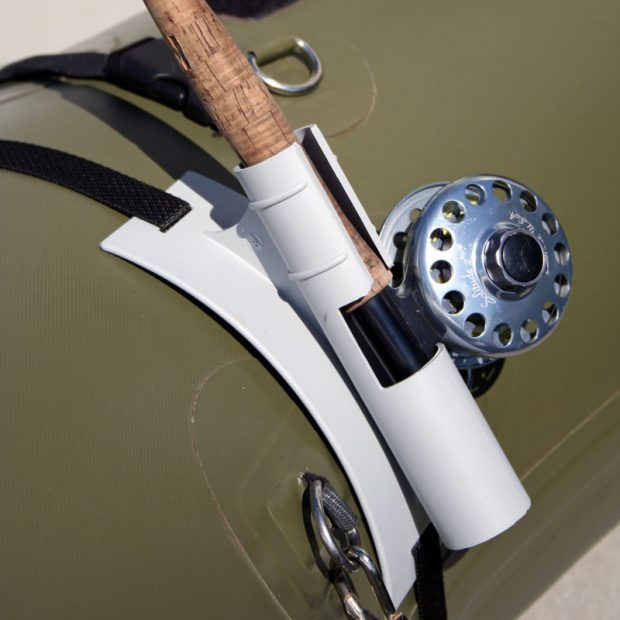 Diy rod holder for inflatable boat diy do it your self for Homemade fishing rod holders for boats
