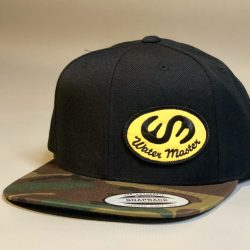 Water Master Camo Flat Bill Patch Hat