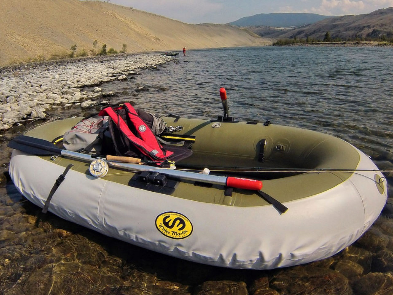 Fly fishing inflatable rafts boats water master for Inflatable fishing boats